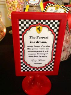 Ferrari is a dream. 3rd Birthday, Birthday Ideas, Ferrari Party, Big 5, Candy Table, Game Night, Parties, Racing, Kids