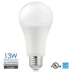 Vanlite A21 Led 5000k daylight Bulbs Dimmable 75 watt Equivalent 13w - 120v E26 UL-Listed, Energy Star