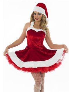 Ladies sexy santa tutu costume from fancy dress ball christmas