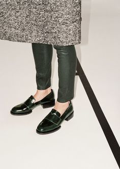 Chunky loafers. Also, I can't even see the top of this coat and I already know I love/want it.