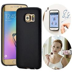 Anti-Gravity Phone Case for Samsung. Estimated Delivery: 2-3 business days. 1 Year warranty and 30 days money back guaranteed Material:PC+TPU, Protect your phone from scratch and shock. Can Stick to glass, mirrors, whiteboards, metal, kitchen cabinets or tile, car GPS, and most smooth, flat surfaces. Nano-meter washable micro-suction back,The case Sticks without being sticky. Works perfectly with all phone functions including gps, wifi, apple pay, 4G, NFC, Bluetooth....
