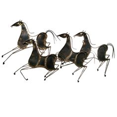 Curtis Jere Sculpture of Horses (signed and dated 1969) | From a unique collection of antique and modern wall-mounted sculptures at http://www.1stdibs.com/furniture/wall-decorations/wall-mounted-sculptures/