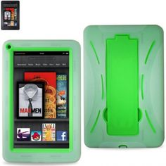 Kindle Fire Hybrid Case with KickStand Clear & Green