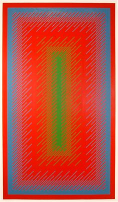 Richard Anuszkiewicz / Reflections IV Op Art, Hidden Images, Latch Hook Rugs, Kinetic Art, Simple Art, Geometric Art, Rug Hooking, Optical Illusions, Shape Patterns