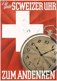 1930s Swiss Watch Advertising Poster