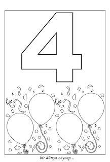 sayı boyama (number coloring pages) 4 Year Old Activities, Preschool Learning Activities, Preschool Printables, Preschool Lessons, Preschool Colors, Numbers Preschool, September Crafts, Kindergarten Math Worksheets, Math For Kids