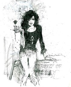 Death by Bill Sienkiewicz  If you like geeky stuff, like, repin and share! Thanks :)