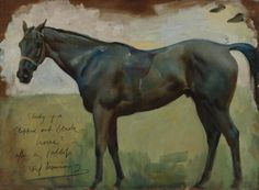 Draw Horses Alfred Munnings study of a clipped out black horse after a gallop Things of beauty I like to see: Photo - Horse Drawings, Animal Drawings, Drawing Animals, Race Horse Breeds, Alfred Munnings, Horse Portrait, Pencil Portrait, Horse Posters, Animal Paintings