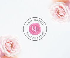 Rose Photography Logo Feminine Pink Logo Floral Premade Logo Clip Art