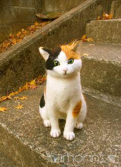 羊毛フェルト 三毛猫/明日イベント発表! の画像|morin工房ー羊毛フェルト人形