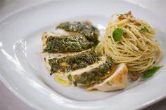 Pesto-Glazed Chicken Breasts with Spaghetti - TODAY.com