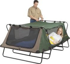 -Nice enclosed cot big enough for 2.  Semi sleeping under the stars.  :)
