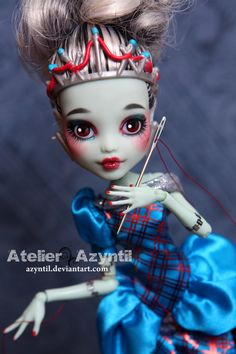 OOAK Custom Monster High Repaint  Adventures of by Azyntil on Etsy