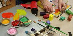 R, the low down of encaustic paints