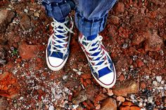 #color #colorful #colourful #fashion #feet #footwear #ground #hip #jeans #rocks #rocky #shoelace #shoes #sneakers #training #walk