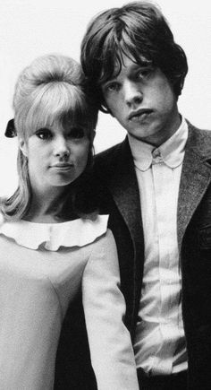 Pattie Boyd and Mick Jagger. Now I understand 'Moves like Jagger'. Apparently he was pretty hot with dem lips Más Los Rolling Stones, Like A Rolling Stone, Mick Jagger, Pattie Boyd, Moves Like Jagger, British Invasion, George Harrison, Patti Harrison, Keith Richards