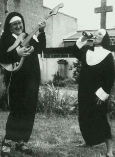 Rock 'n' Roll Nuns ~ love it!