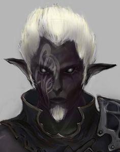 m Drow Elf Rogue Thief portrait