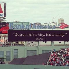 Boston isn't a city, it's a family