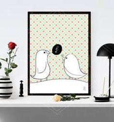 poster birs love 30x40cm