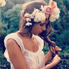 Flower. Headband.