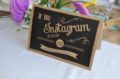 IF YOU INSTAGRAM PLEASE USE-Chalkboard Style Wedding Sign Social Media aa182 #Inspired4u