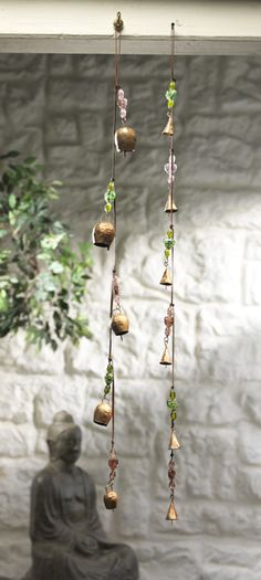 Metal bells with beads