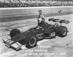 Mark Donohue #66 McLaren turbo-Offy, Winner 1972 Indianapolis 500 (IMS Archives)
