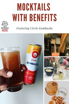 Replace the booze in these 4 great cocktails to create mocktails using kombucha. The fermented tea drink is full of probiotics, B-vitamins and amino acids. Give yourself treat at the end of the day while also getting the gut health benefits. Pomegranate Recipes, Pomegranate Fruit, Fruit Recipes, Healthy Recipes, Party Recipes, Recipes Dinner, Rice Recipes, Crockpot Recipes