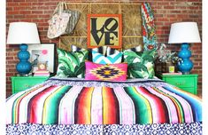 10 selections of how to make a simple DIY bohemian interior in a day - home desire - 結婚式 My New Room, My Room, Home Bedroom, Bedroom Decor, Bedrooms, Funky Bedroom, Mexican Bedroom, Deco Kids, Piece A Vivre