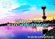 """I've done this more times than I can even count...add """"drinking around the world showcase"""" to this as well."""