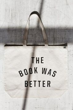 Urban Renewal Recycled The Book Was Better Tote Bag - Urban Outfitters Thing 1, Urban Renewal, Best Bags, I Love To Laugh, Book Nerd, Book Lovers, Book Worms, The Book, My Books