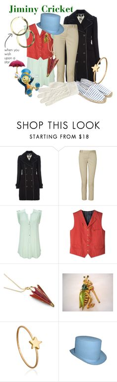 """""""Jiminy Cricket"""" by princesschandler ❤ liked on Polyvore featuring Burberry, J Brand, Wallis, Disney, Poplin, And Mary, Disney Couture, Marian Maurer, Soludos and Levi's"""