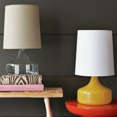 glass lamp / west elm MMM