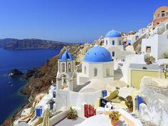 Oia, pe insula Santorini, Grecia