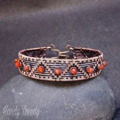 Beading is among the most popular niches in fashion jewelry making and rightfully so. It takes a great deal of abilities and patience in order to make complex and innovative pieces from just a bunch of beads and string. Copper Wire Jewelry, Copper Bracelet, Silver Jewelry, Copper Cuff, Handmade Bracelets, Handmade Jewelry, Jewelry Crafts, Jewelry Ideas, Silver Jewellery Indian