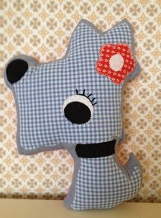 """Oh Dawg ! "" to go with "" Oh Deer ! "" cushioned fabric softie / toy by Jodi Jo Retro"