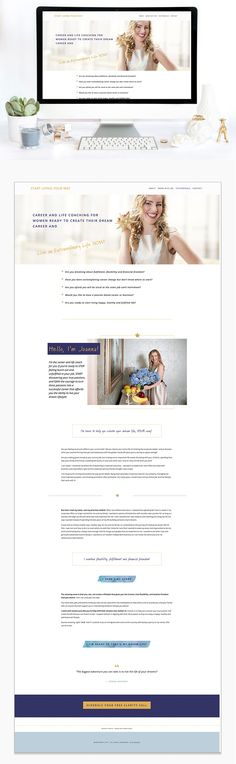 Joanna Echols home page web design | Squarespace web design | Jodi Neufeld Design