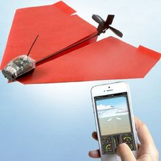 PowerUp 3 smartphone paper plane is tradition meeting technology.a paper plane navigated by your smartphone. Paper Airplane Book, Airplane Toys, Airplane Drone, Airplane Gifts, Airplane Pilot, Bluetooth, Remote Control Cars, 3d Prints, Mo S