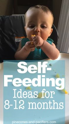 Self-Feeding ideas for Month Olds - Pinecones and Pacifiers. food Self-Feeding ideas for Month Olds - Pinecones and Pacifiers The Babys, Baby First Foods, Baby Finger Foods, Finger Foods For Toddlers, Baby First Solid Food, Baby Led Weaning First Foods, Graco Baby, Baby Self Feeding, Baby Feeding Chart