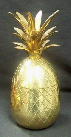 Stunning 10 Brass Pineapple Ice Bucket. Ice by theenchantedfigtree, $149.00