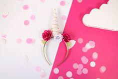 Recyclez un vieux serre-tête et transformez-le en joli serre-tête licorne pour la plus grande joie de votre fille !