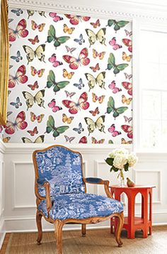Butterflies by Jaima Brown Wallquest. Order at http://lelandswallpaper.com/store/Display:Show:Contact