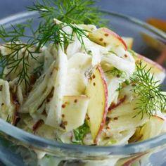 Fennikel æble salat med dild og mayo