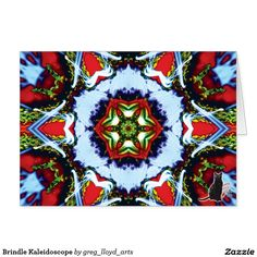 Brindle Kaleidoscope Card. 50% OFF Cards - USE CODE: DADDAYZSENDS at checkout to get offer. Good until 5/17/16 11:59PM PT. A greeting card that features a Kinetic Collage kaleidoscope composition created from a screen capture image. The inside panels are left blank for the writer to express themselves personally. Over 2600 products at my Zazzle online store. Open 24/7 World wide! http://www.zazzle.com/greg_lloyd_arts* + See KC @  http://www.youtube.com/user/kineticcollage