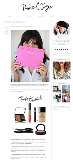 LOVE the simplicity of this blog design + the fabulous hand lettered header design. Beautiful.