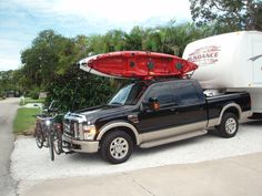 Truck Rack For Fifth Wheel Able To Haul Kayaks And Other