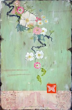 """The Softest Whisper,"" 36 x 24"" www.kathefraga.com Kathe Fraga paintings 2014 Inspired by vintage Paris and Chinoiserie ancienne"