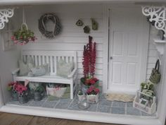 miniature, doll house porch