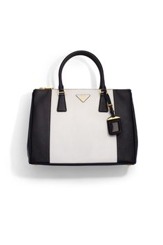 A luxurious saffiano leather style in a chic, colorblock design. (Prada)